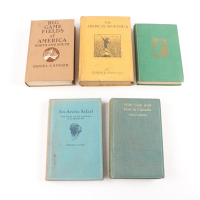 "Hunting Books including 1906 ""The American Sportsman"" by Elisha J. Lewis"