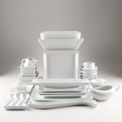 Contemporary Dinnerware Set Featuring Pier One Porcelain