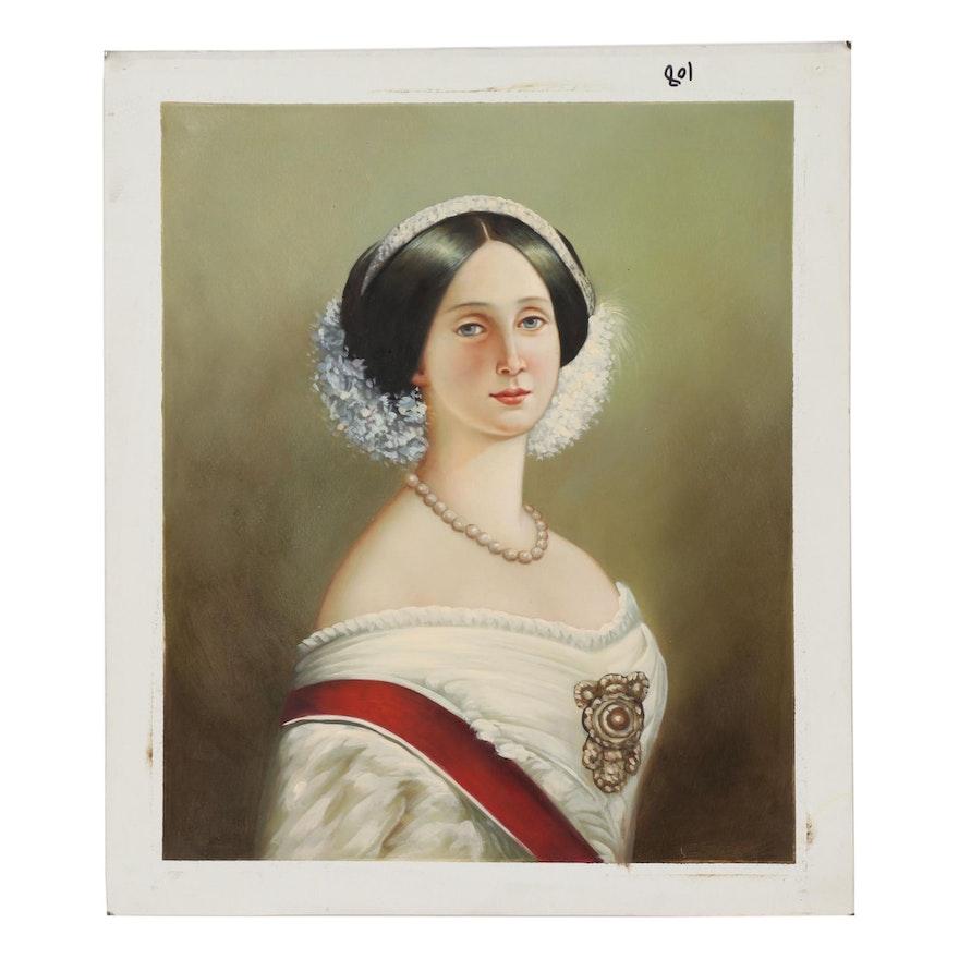 Contemporary Oil Painting of Aristocratic Portrait