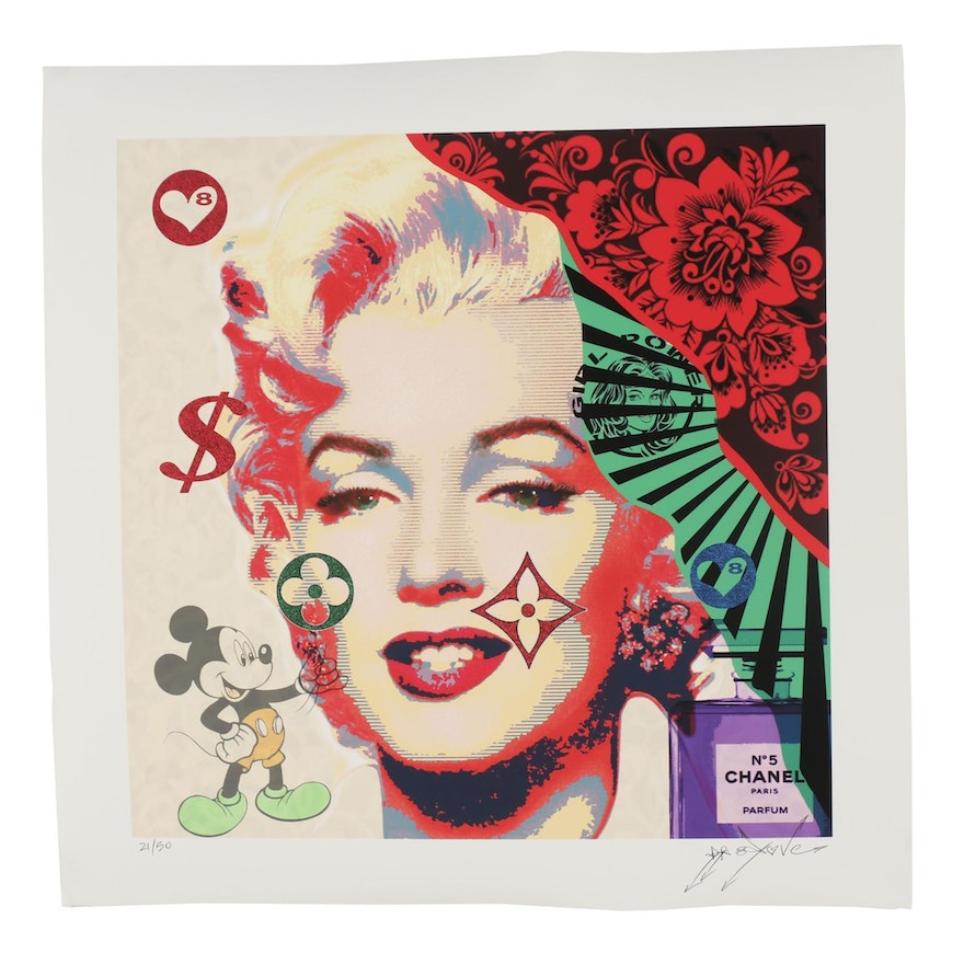 "Dr8 Love Giclée Print ""Marilyn Mickey Chanel"""