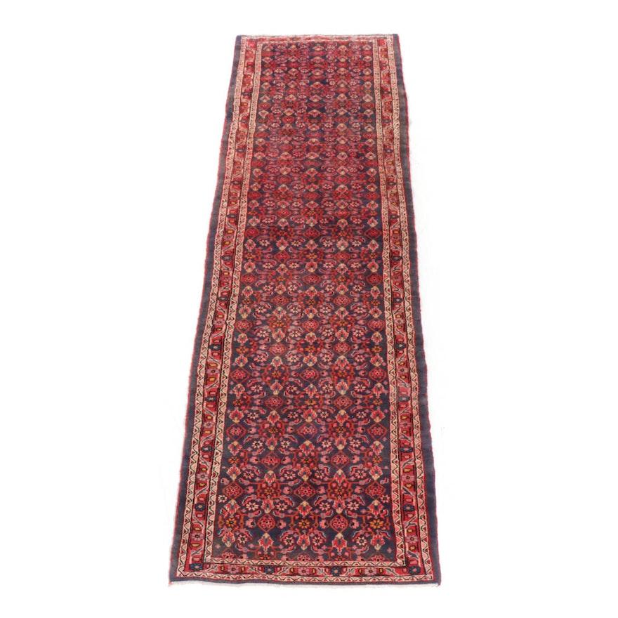 Hand-Knotted Persian Mahal Carpet Runner, Circa 1960s