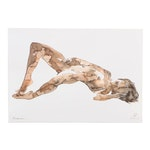 Anastasija Serdnova Watercolor of Nude Female