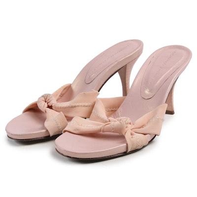 Donald J Pliner Pink Heeled Slide Sandals