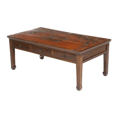 Chinese Paint-Decorated Coffee Table, Late 20th Century