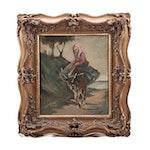 Follower of Tivadar Csontvary-Kosztka Oil Painting of Donkey and Rider