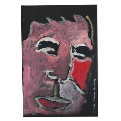 Jean-Louis Moray Acrylic Painting Abstract Portrait