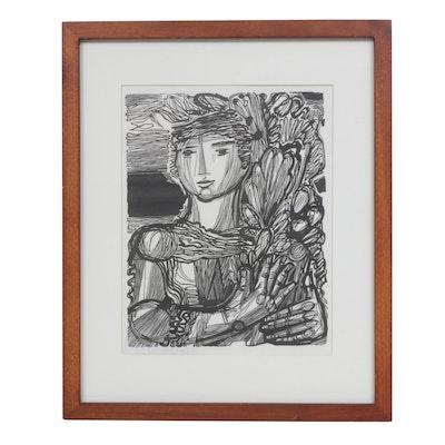 Hans Orlowski Woodcut