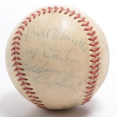 1949 Boston Braves and Cincinnati Reds Signed National League Baseball