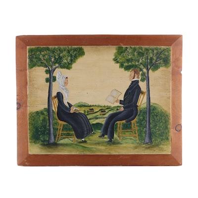 Folk Art Oil Painting