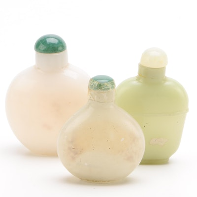 Chinese Glass and Bowenite Snuff Bottles