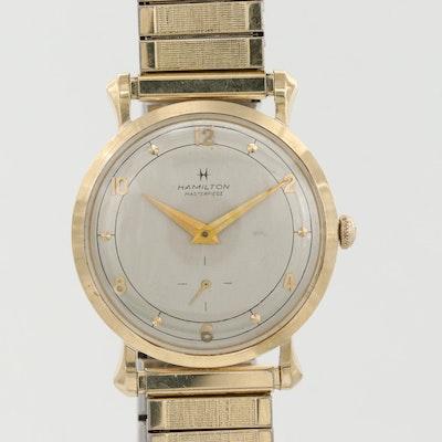 Vintage Hamilton Masterpiece 10K Yellow Gold Stem Wind Wristwatch