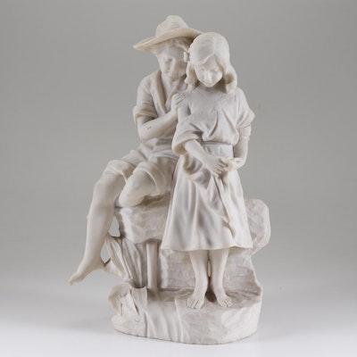 Cultured Alabaster Figural Sculpture