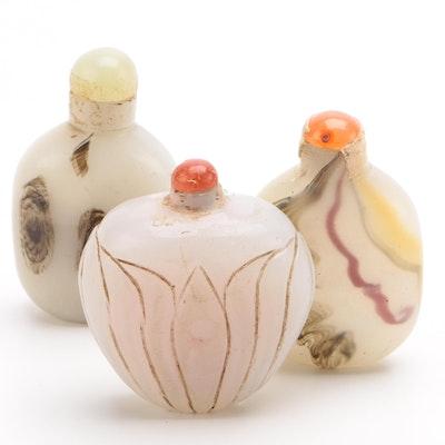 Chinese Hardstone Snuff Bottles