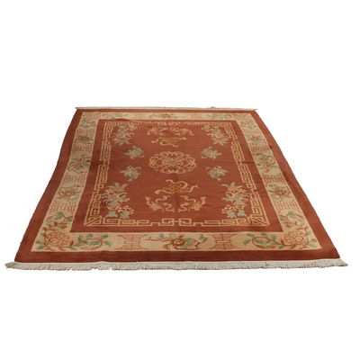 Hand-Knotted Chinese Peking Wool Rug