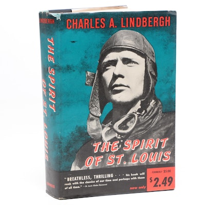 """1956 """"The Spirit of St. Louis"""" by Charles Lindbergh"""