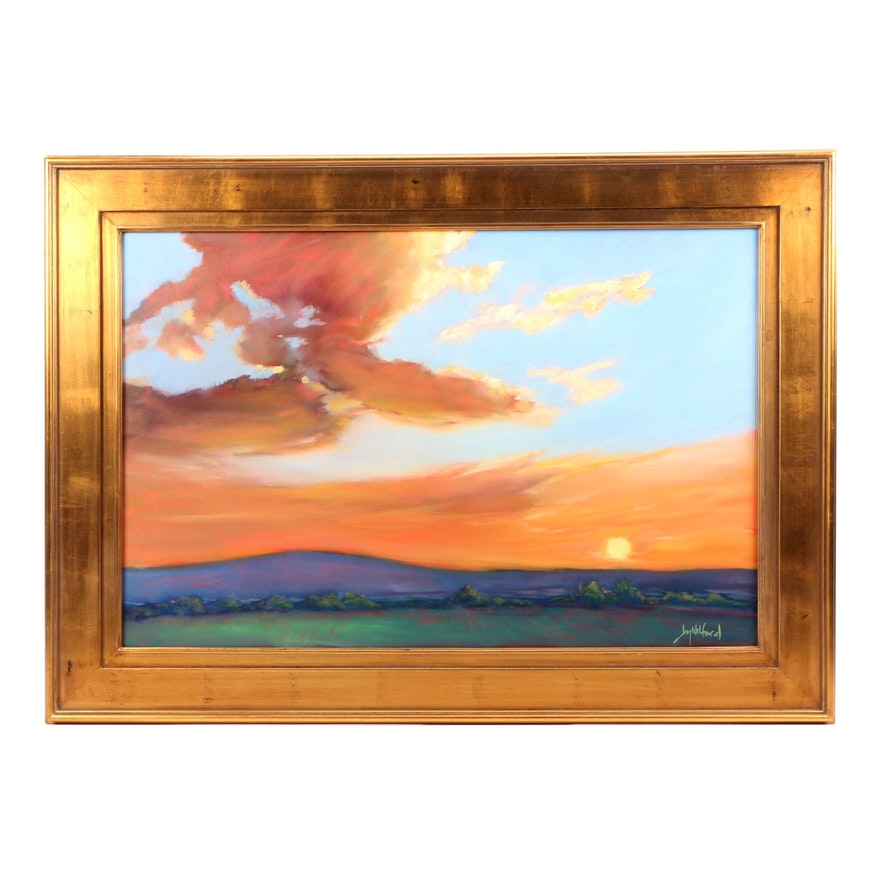 "Jay Wilford Landscape Oil Painting ""Foothill Sunset"""