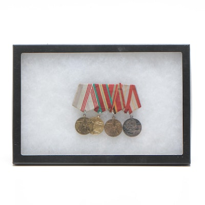 "Soviet Union Commemorative Military and ""Veteran of Labor"" Medals"