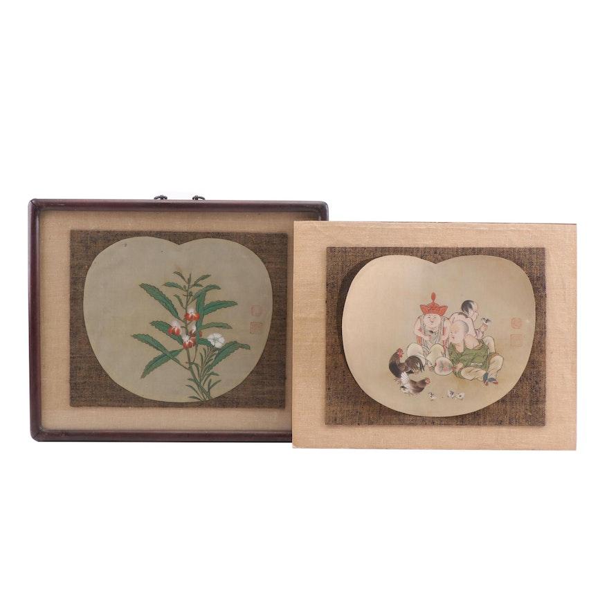 19th Century Chinese Gouache Paintings