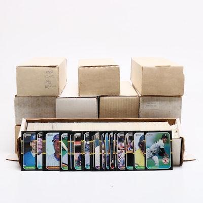 1980s-1990s Baseball Cards Including Topps, Donruss, Score, and Fleer