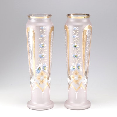 Vintage Hand-Painted Vases