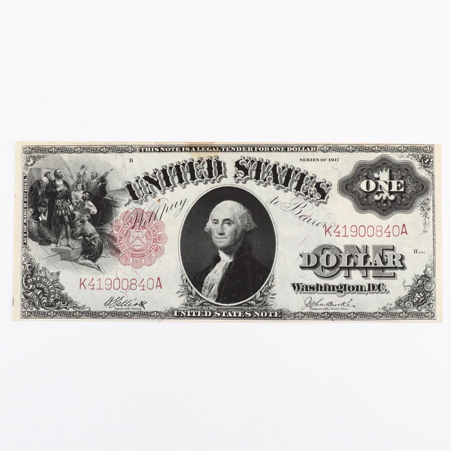 Series of 1917 One Dollar United States Note