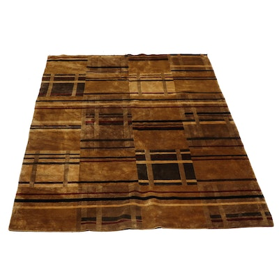 Hand-Knotted Nepalese Wool Rug, Contemporary