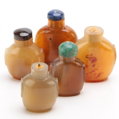 Chinese Diminutive Agate Snuff Bottles