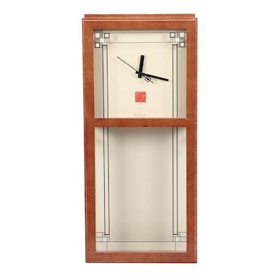 "Frank Lloyd Wright FOundation Bulova ""Gilmore"" Wall Clock"