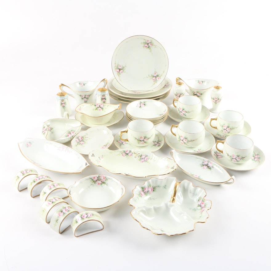 Hobbyist Painted Continental Porcelain Dinnerware and Other Tableware