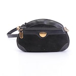 Gucci Black Suede and Leather Crossbody Bag