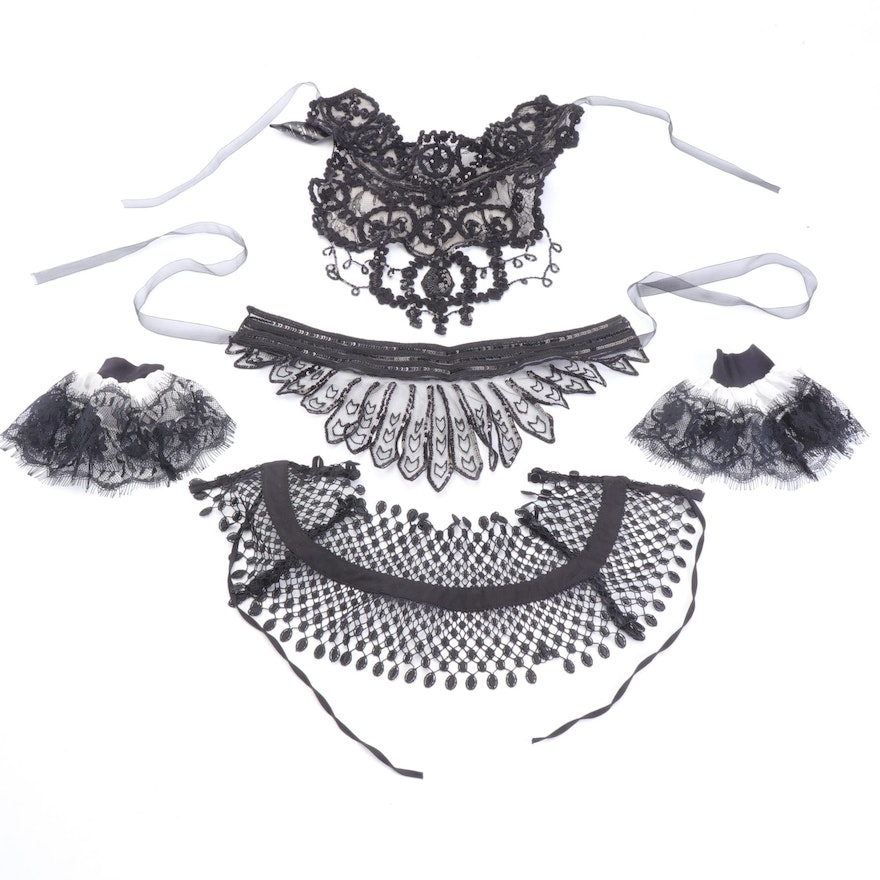Anne Fontaine Embellished Collars and Sleeve Cuffs