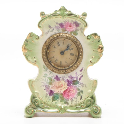 Ansonia Porcelain Mantel Clock, Late 19th/Early 20th Century