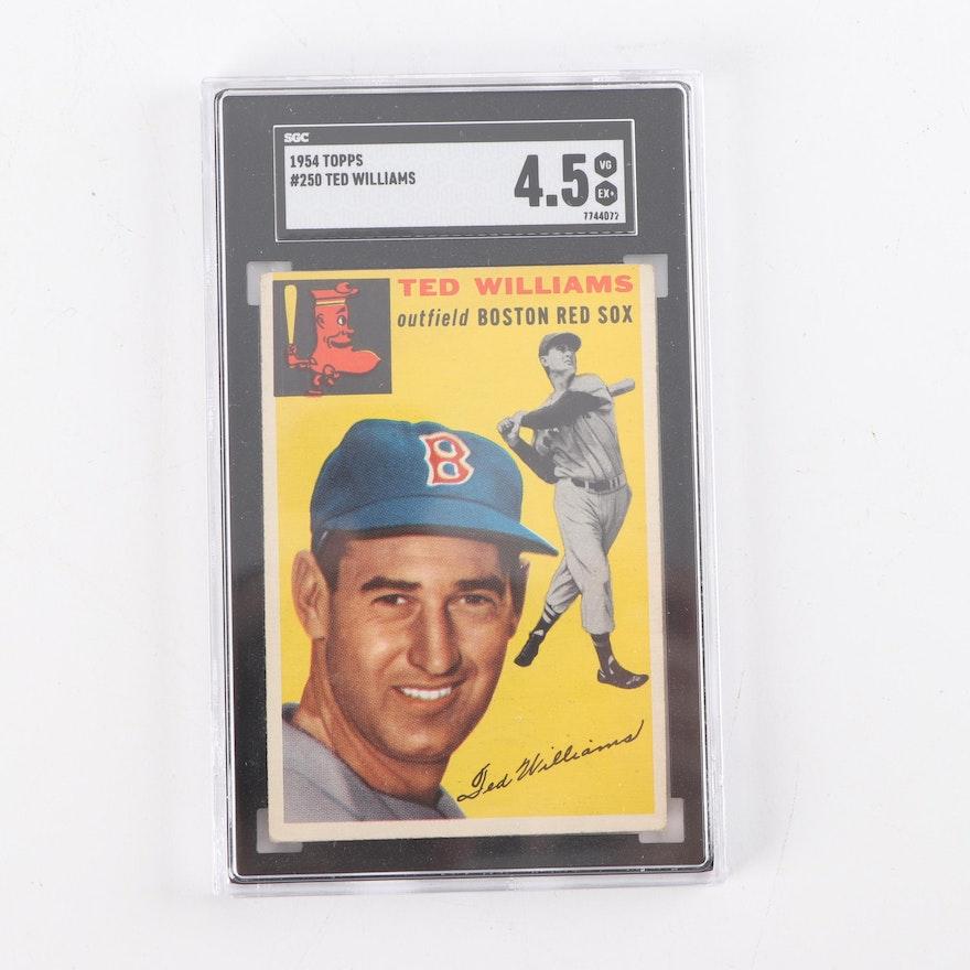 1954 Topps 250 Ted Williams Baseball Card Sgc Graded