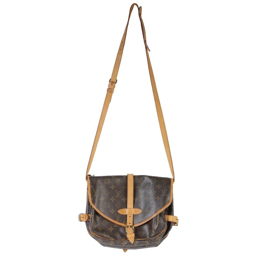 Louis Vuitton Paris Monogram Canvas Saumur 30 Double-Sided Crossbody Bag