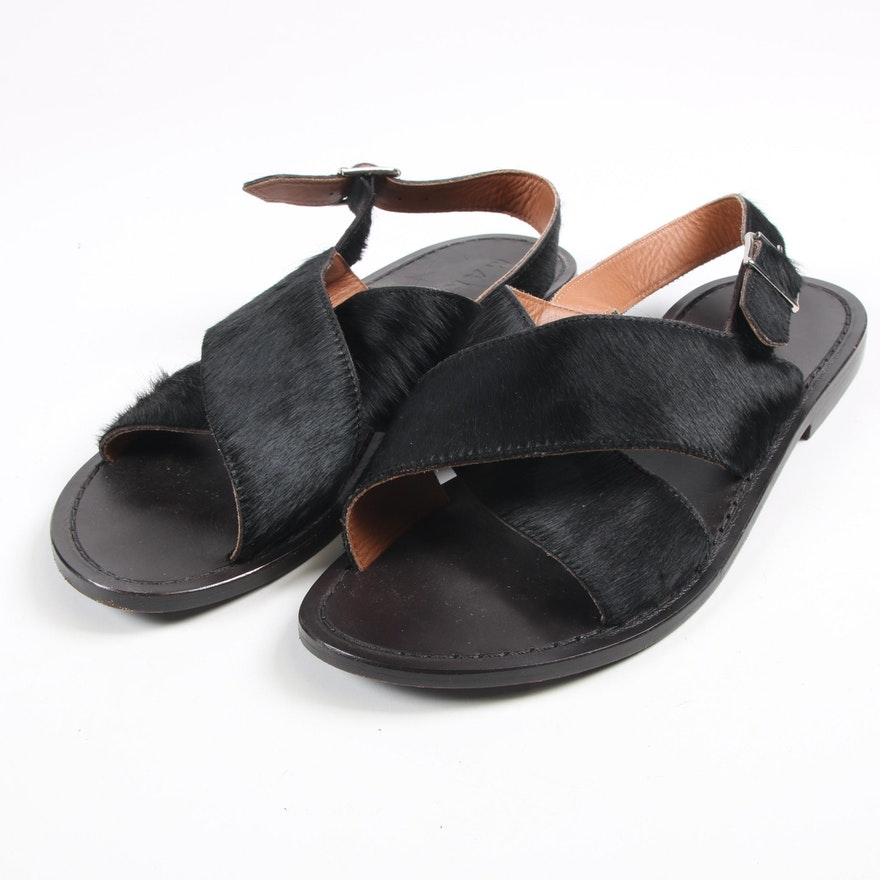 Sandals Calf Black Marni Crisscross Hair xtdoQChrBs