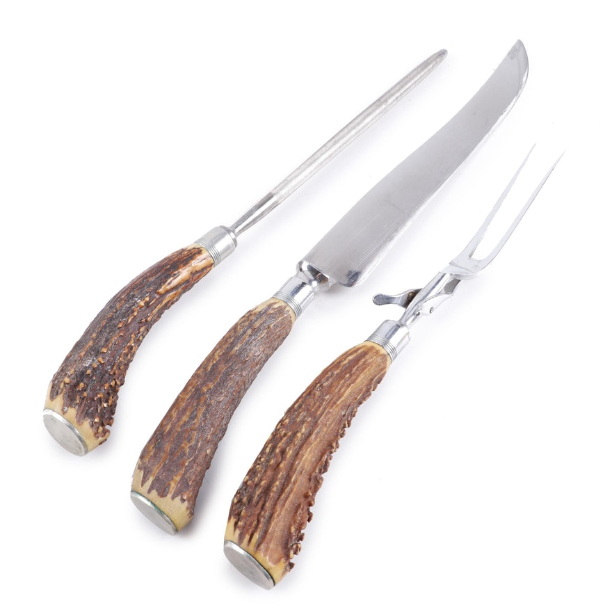 Royal Brand Stag Horn Carving Knife Set