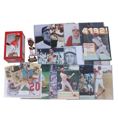 1950s-1960s Kahn's Baseball Cards, Reds Photo Prints, and Bobblehead Dolls