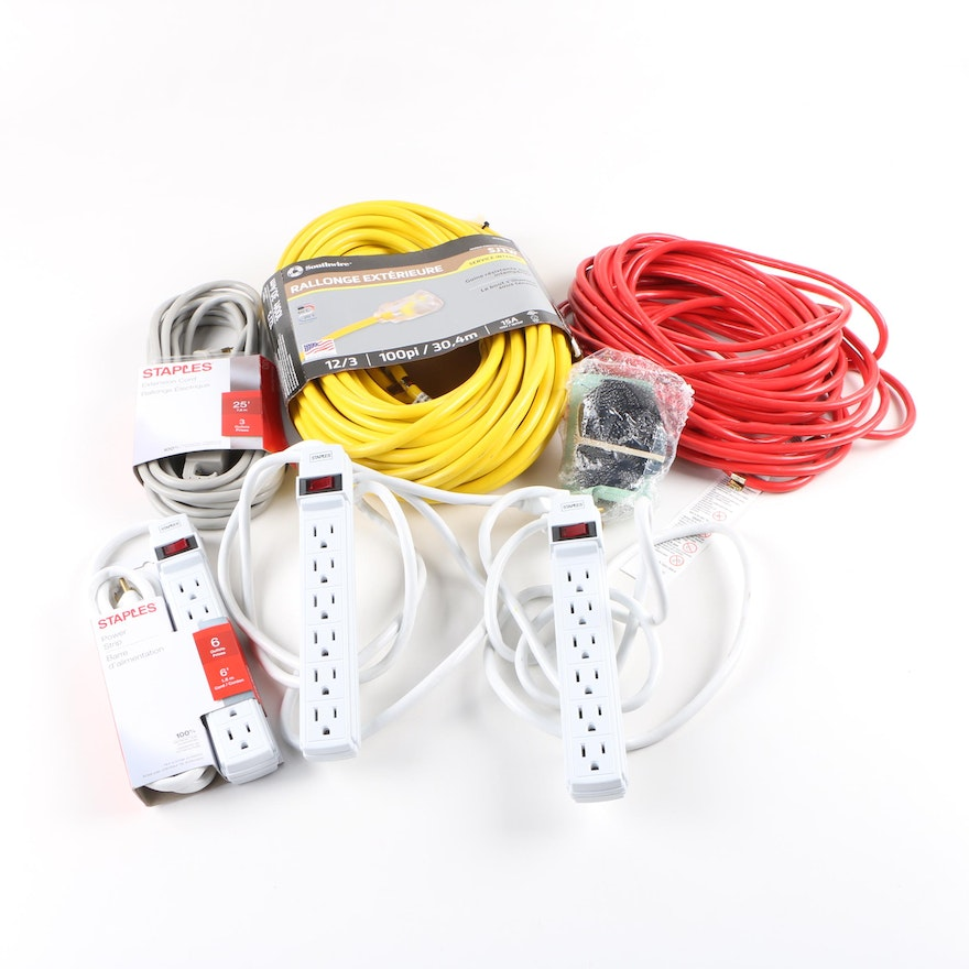 Southwire and Staples Extension Cords and Power Strips