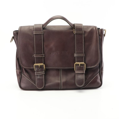 Claire Chase Laredo Leather Messenger Bag with Tablet Folio