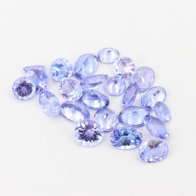 Loose 16.39 CTW Tanzanite Gemstones