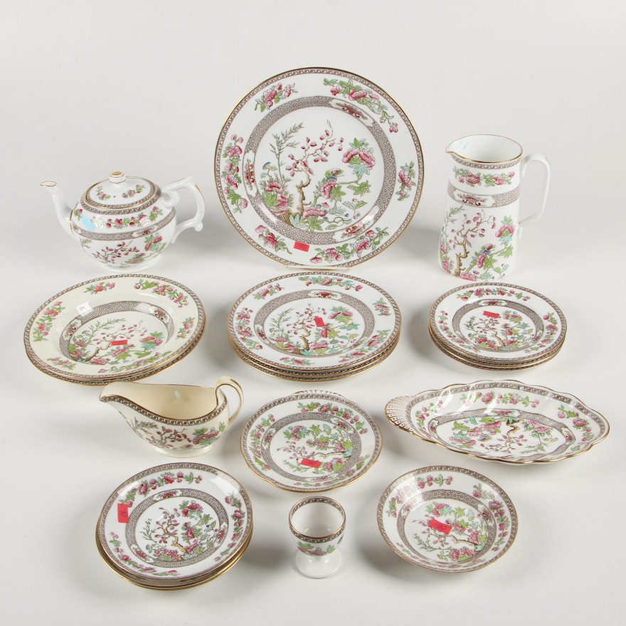 "Copeland Spode ""Indian Tree"" Bone China Dinnerware and Serving Pieces"