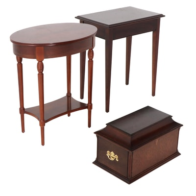 Side Tables and Decanter Set