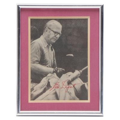 Framed Ed Lopat Signed Print, COA