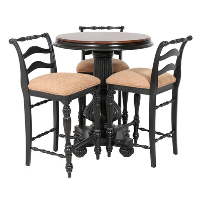 Contemporary Bistro Table with Three Stools