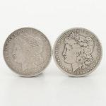 1898-S and 1921 Silver Morgan Dollars
