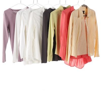 Women's Shirts Including Theory, Calvin Klein, J. McLaughlin, and Petit Bateau