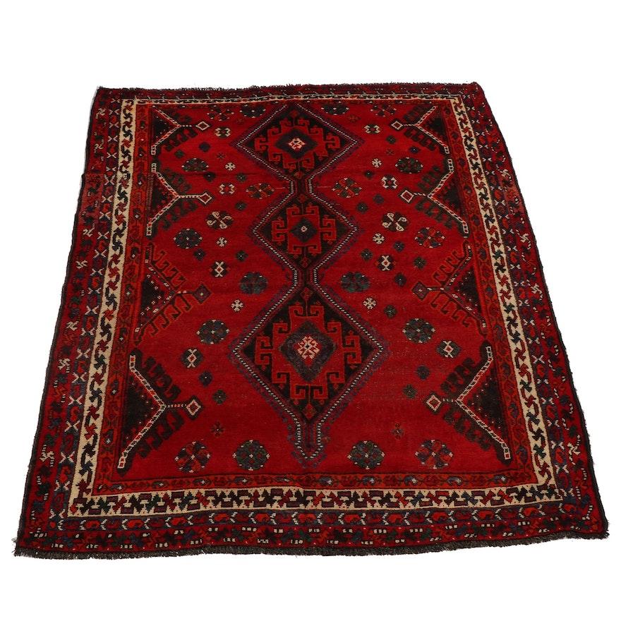 Hand-Knotted Kurdish Luri Wool Rug