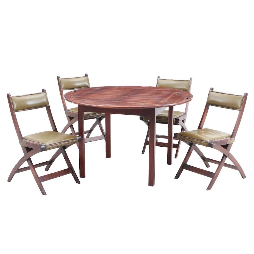 Strange Walnut Drop Leaf Table With Folding Chairs Machost Co Dining Chair Design Ideas Machostcouk