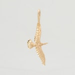 14K Yellow Gold Bird Pendant