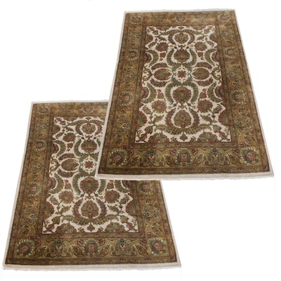 Hand-Knotted Ethan Allen Indo-Persian Wool Rugs